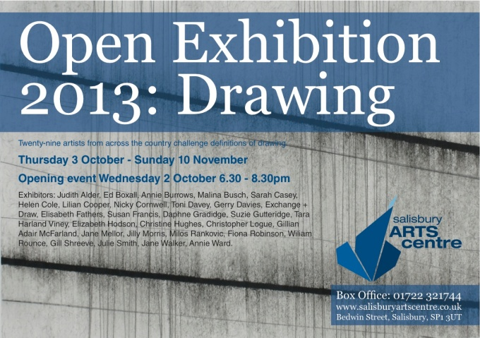 SAC Open Drawing Exhibition Flyer