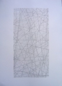 Six x Three / 1. Pencil on paper, 70 50 cms. 2009.