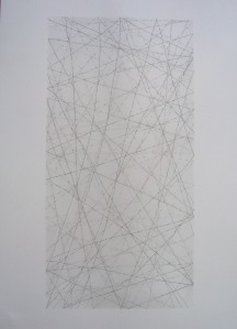 Six x Three / 4. Pencil on paper, 70 x 50 cms. 2009.