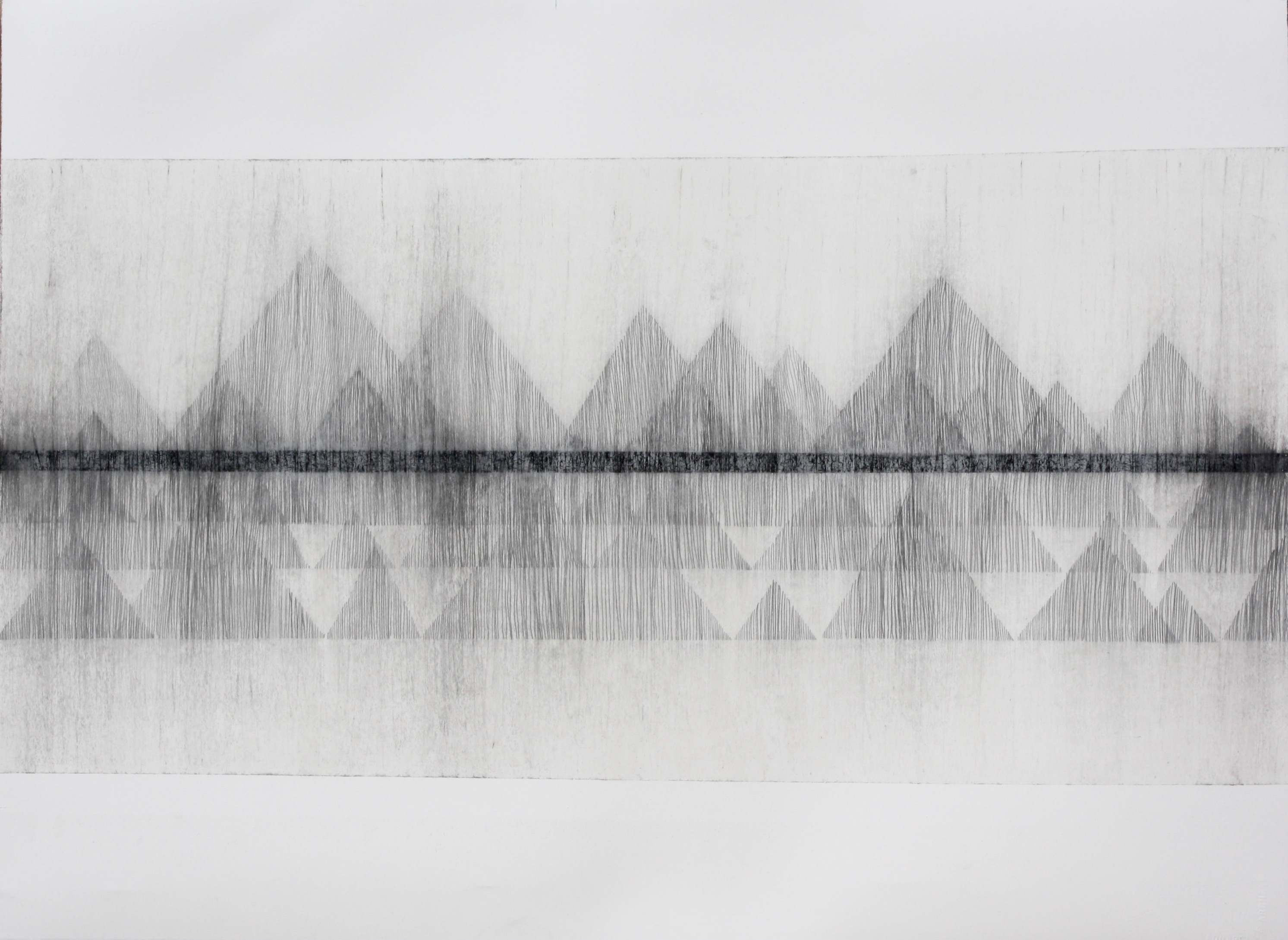 Robinson_Fiona Debussy La Cathdrale Engloutie/Sunken Cathedral #1. Graphite charcoal and mixed media 76 x 56cms