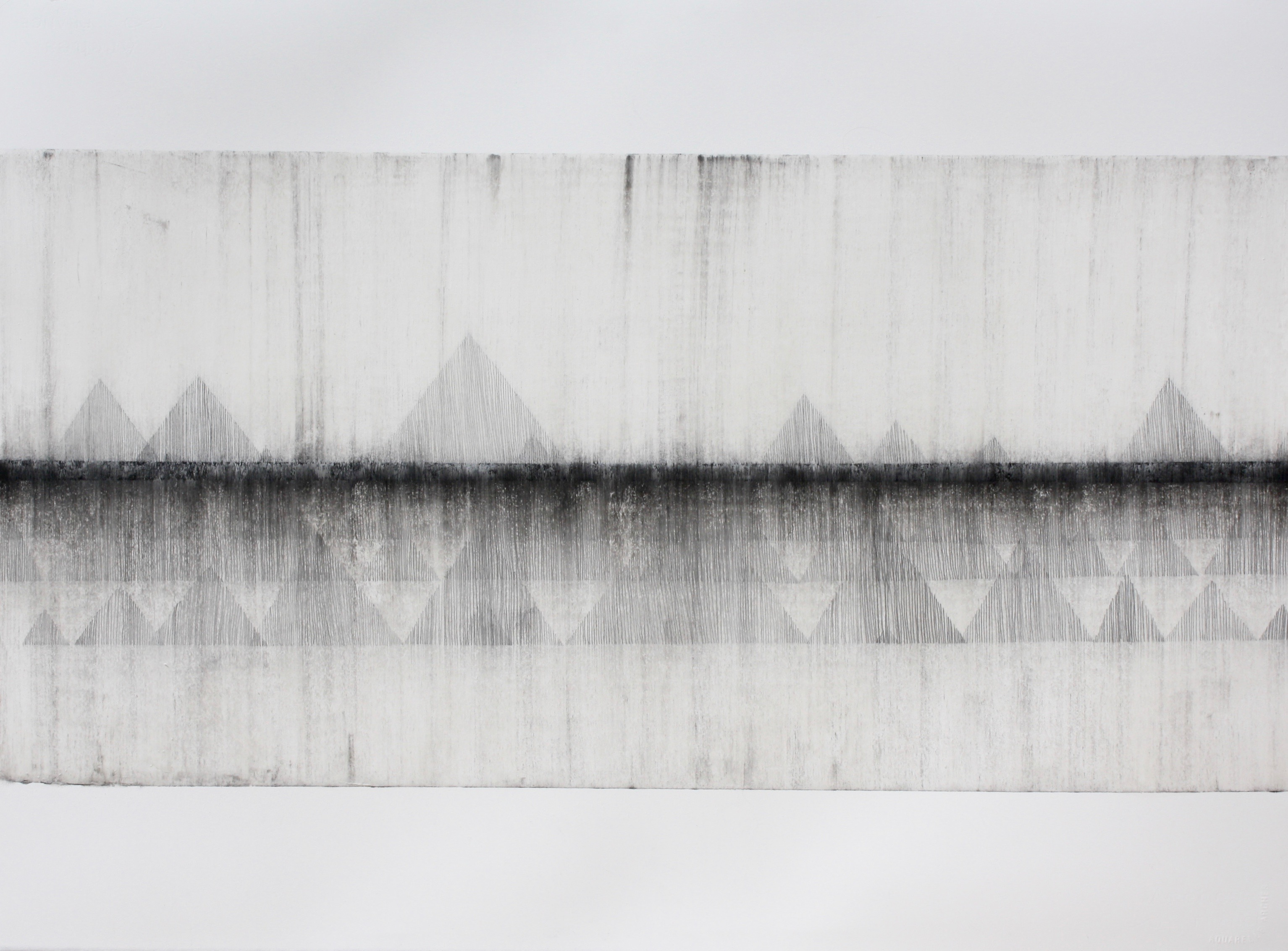 Robinson_Fiona Debussy La Cathdrale Engloutie/Sunken Cathedral #3. Graphite charcoal and mixed media 76 x 56cms