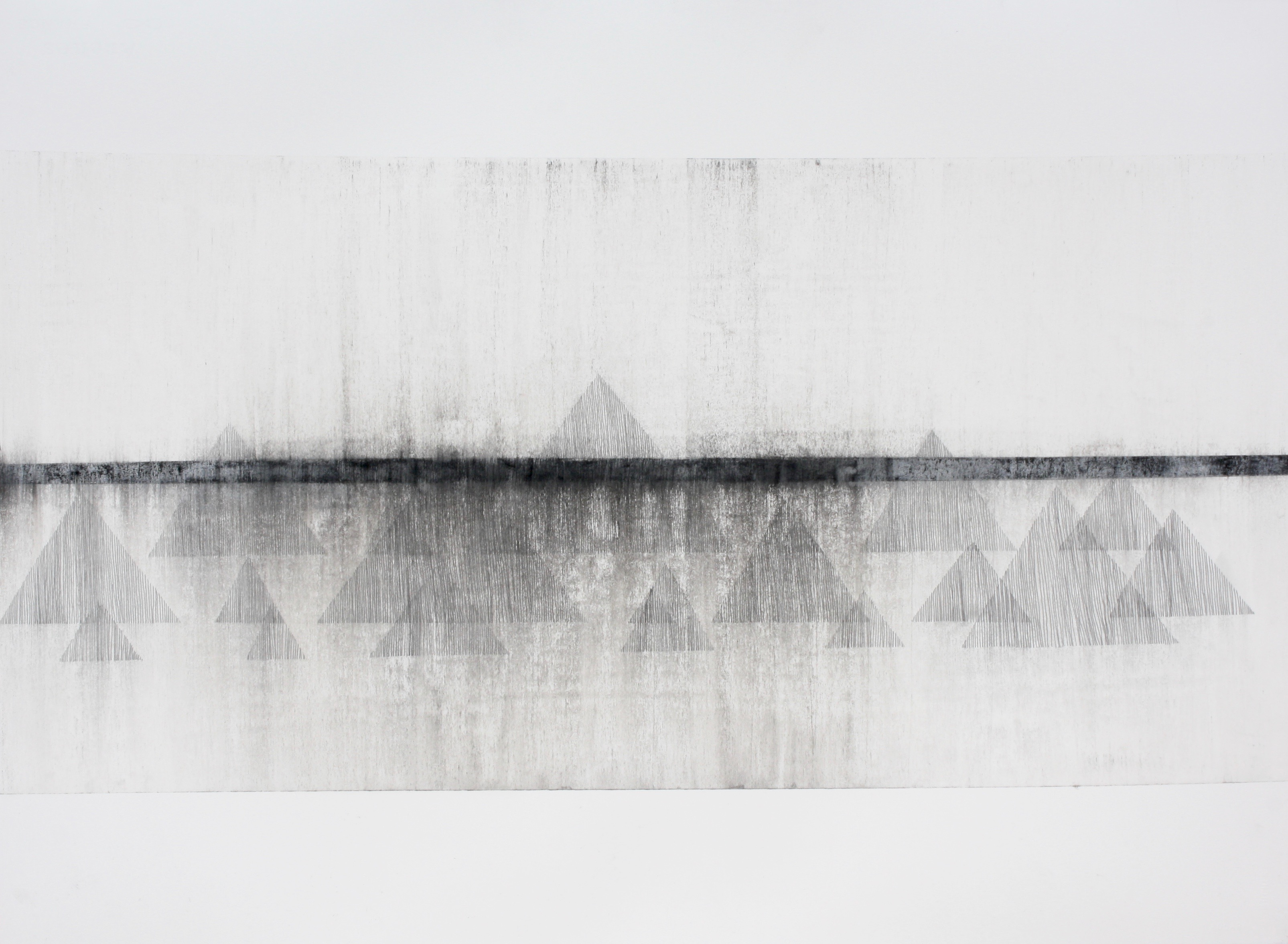 Robinson_Fiona Debussy La Cathdrale Engloutie/Sunken Cathedral #4. Graphite charcoal and mixed media 76 x 56cms