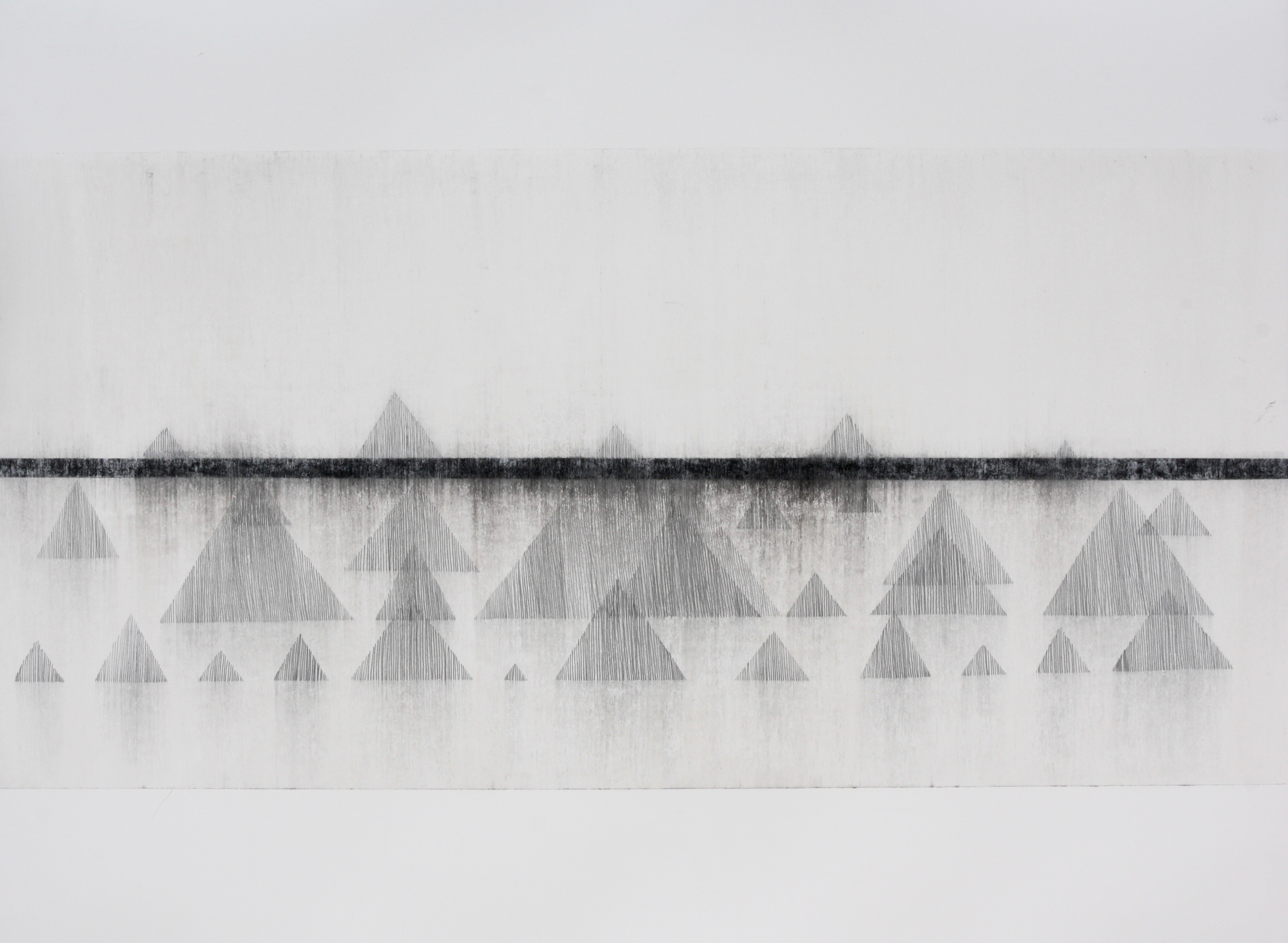 Robinson_Fiona Debussy La Cathdrale Engloutie/Sunken Cathedral #5. Graphite charcoal and mixed media 76 x 56cms