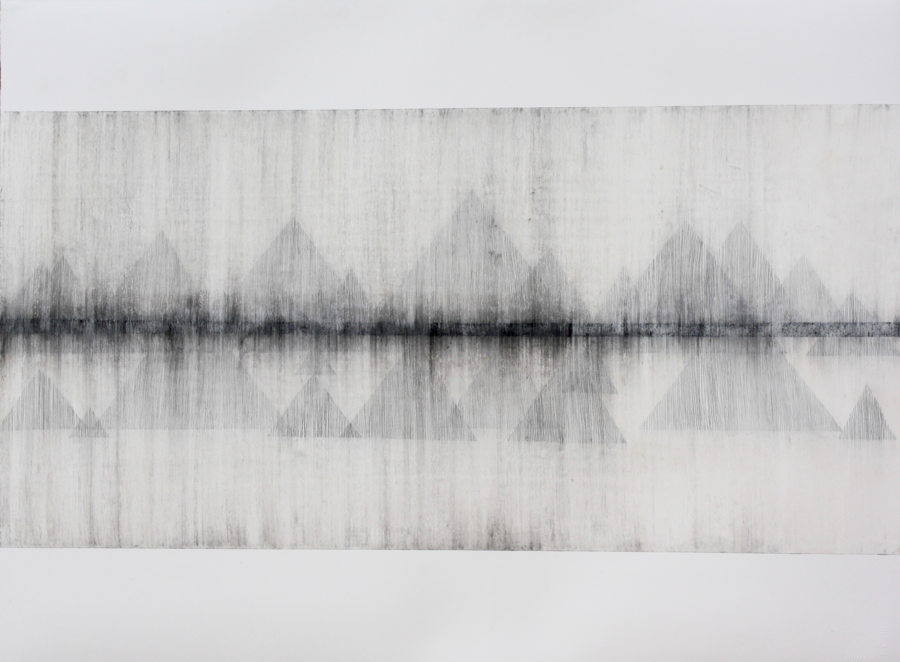 Robinson_Fiona Debussy La Cathédrale Engloutie/Sunken Cathedral #2. Graphite charcoal and mixed media 76 x 56cms